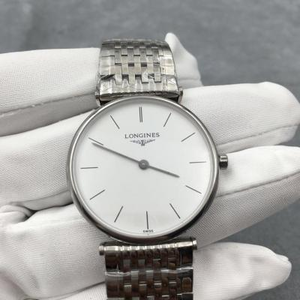 Longines Garland series imported quartz movement, simple and elegant white plate, both men and women can wear