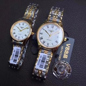 V8 factory Longines Luya series L4.860.4 automatic mechanical couple pair watch (unit price)