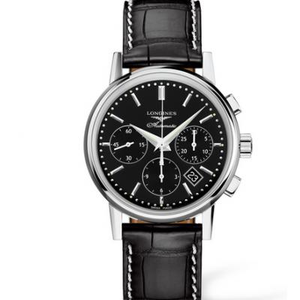 new Longines classic retro series L2.733.4.72.2 men's chronograph mechanical watch.