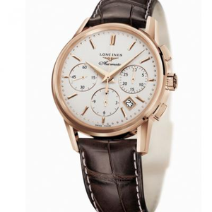 new Longines classic retro L2.733.8.72.2 series men's mechanical chronograph watch.